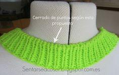 Sentarse a Coser: Vídeo Tutorial: Cómo rematar el cuello de un jersey tejido Leg Warmers, Crochet Hats, Beanie, Knitting, Tango, Videos, Fashion, Knitting Needles, Blouses