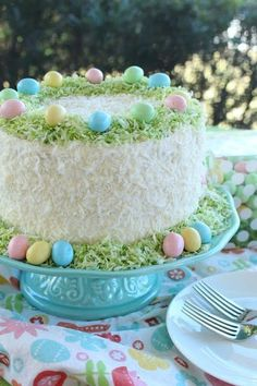 Easter Lemon Coconut Cream Cake - Easter Lemon Coconut Cream Cake by LoveandConfection… Best Picture For Easter Recipes Ideas lunc - Easter Bunny Cake, Easter Treats, Easter Food, Easter Cake Lemon, Easter Cake Coconut, Bunny Cakes, Easter Baby, Lemon Coconut, Coconut Cream