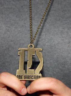 One Direction Designed Necklace,Long Antique Bronze Necklace