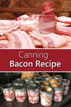 Canned Bacon, Canned Meat, Canned Food Storage, Canned Foods, Pressure Canning Recipes, Home Canning Recipes, Canning Tips, Canning Food Preservation, Preserving Food