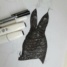 Dress Illustration, Fashion Illustration Dresses, Fashion Illustrations, Fashion Model Sketch, Fashion Design Sketches, Profile Drawing, Fashion Drawing Dresses, Chiaroscuro, Alternative Outfits
