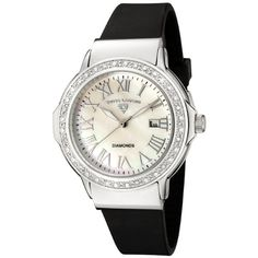 Swiss Legend Women`s 20032D-02 South Beach Collection Diamond Accented Black Rubber Watch $69.99