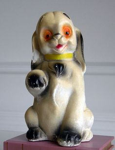 Vintage Carnival Chalkware Puppy Dog