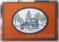 A Drive in the Country - SU - Guy Greetings & Lovely as a Tree stamp sets - Brick Wall EF - Masculine