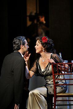 Bruno Ribeiro as Alfredo Germont and Elizabeth Futral as Violetta Valery, a courtesan in the Minnesota Opera production of La traviata    2011 © Michal Daniel