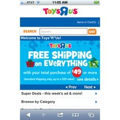 This mobile site is earning ToyRUs $$$$$, well, 1 billion to be exact.