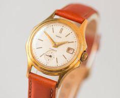 Unisex watch Chaika/Vostok gold plated with Soviet by SovietEra, $119.00