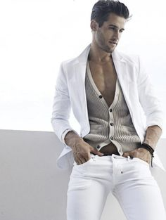 mode | fashion | man | wit | cardigan | blazer