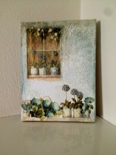 window Decoupage, Window, Frame, Cards, Painting, Home Decor, Picture Frame, Painting Art, A Frame