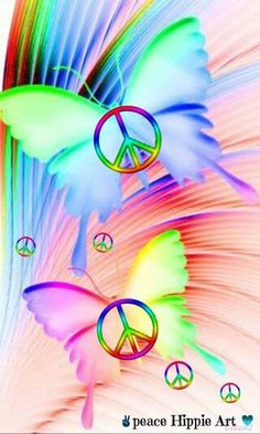 Butterfly Peace Sign Art....