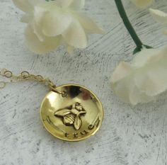 Bee True Necklace - in 14ky gold by Kathryn Riechert  $170