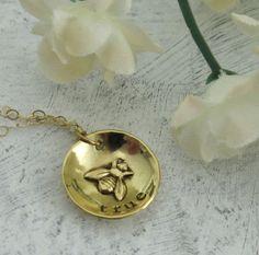 Bee True Necklace - in 14ky gold by Kathryn Riechert  $170