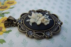 Cameo Jewelry Butterfly Necklace Butterfly by daisysgemgarden, $18.00