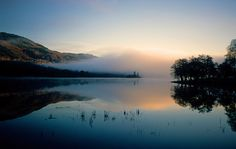 Dawn at Loch Achray in the Trossachs, Scotland by David May