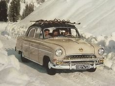 Opel Kapitän Old Vintage Cars, Vintage Ski, Old Cars, Vintage Photos, My Dream Car, Dream Cars, Old Fashioned Cars, Dream Garage, Cars And Motorcycles