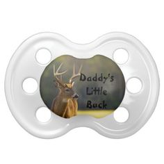Personalized Babies Hunting Daddys Little Buck Pacifier