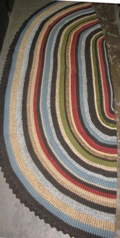 Oval Rug - AllFreeCrochet.com - Free Crochet Patterns, Crochet