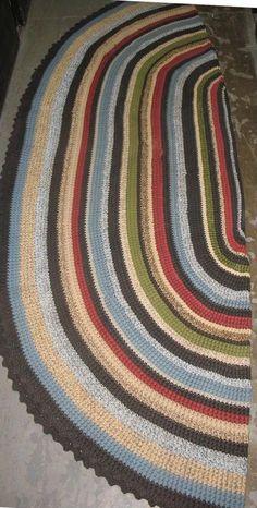 Oval Rug   AllFreeCrochet.com   Free Crochet Patterns, Crochet