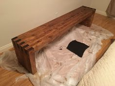 """Make sure you check out my new YouTube Channel, The Cutting Boredfor future project updates!     Want to start this blog off by giving a shout out to ModernBuilds for the  inspiration for this project. The Box Joint Bench is a super simple design  but took a bit of skill and hard work to pull off and the final product is  amazing in my opinion. Below is how I built it!  Standard Home Depot Trip.  Materials I sued for this project: 11 x 2"""" x 4"""" x 8"""" Framing Lumber Wood Glue (Tightbond II)…"""