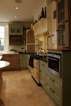 Bespoke English Eclectic Kitchens at Moore & Bradfield Eclectic Kitchen, New Kitchen, Kitchen Dining, Kitchen Cabinets, Dining Rooms, English Country Kitchens, English House, My House, New Homes