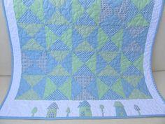 Babydecken - Baby Quilt / Patchworkdecke - ein Designerstück von Aksiny bei DaWanda