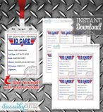 Identify your Top Gun Party Guests with these fun themed Flight Training ID Cards that you can edit & print yourself!