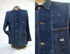 76712252ce 50s LEE Barn Coat Sanforized Indigo Denim Chore Barn Work Wear Denim  Jacket. Vintage DenimVintage FashionBig MacWork ...