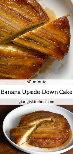 This banana upside-down recipe was created because our bananas were getting mature faster than we could eat them. A few handy ingredients a delicious dessert is served and a smile on everyones face. Nothing like a tasty homemade dessert right? Just Desserts, Delicious Desserts, Dessert Recipes, Yummy Food, Tasty, Cake Recipes, Quick Easy Meals, Easy Dinner Recipes, Banana Upside Down Cake
