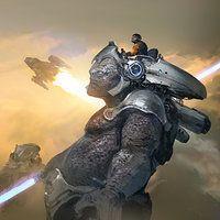 battle concept by J.C Park on ArtStation.