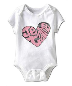 Look what I found on #zulily! White 'Je T'aime' Heart Bodysuit - Infant by American Classics #zulilyfinds