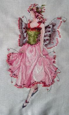 """Stitched to order, Spring Garden Party Collection for Pixie Couture by Nora Corbett """"Rose"""" NC111"""