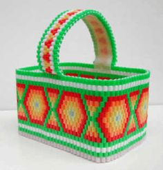 Awesome woven bead basket