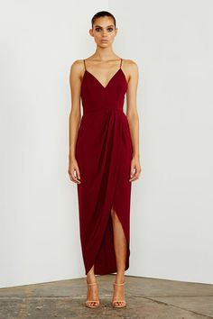 CORE COCKTAIL DRESS - BURGUNDY