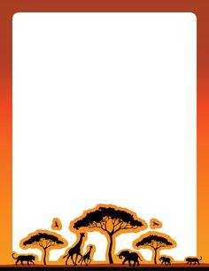 An African-safari themed page border. Free downloads at http://pageborders.org/download/safari-border/