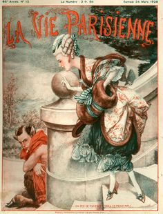 Maybe Marie, and a sulking imp. 1920s France La Vie Parisienne