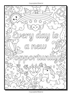 Proud to be a Girl: A Coloring Book for Girls with Fun Inspirational Quotes to Motivate, Encourage and Build Confidence in Young Women Quote Coloring Pages, Coloring Pages Inspirational, Printable Adult Coloring Pages, Adult Coloring Book Pages, Coloring For Kids, Coloring Pages For Kids, Coloring Sheets, Coloring Books, Inspirational Quotes