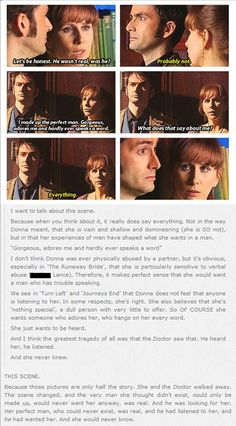 """Analysis of Donna's """"invented"""" love from Silence in the Library/Forest of the Dead"""