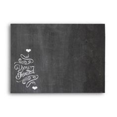 Chalkboard Modern Vintage Wedding Envelopes