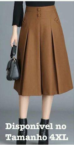 Classic Simplicity A-Line Midi Skirt in Blue blue M Skirt Suit, Dress Skirt, Midi Skirt, Designer Wear, Designer Dresses, Model Rok, Hijab Fashion, Fashion Dresses, 70s Fashion