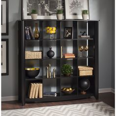 Bush Bush Furniture Aero 16-Cube Bookcase/Room Divider - For the Home - Closet Storage - Shelves & Cabinets