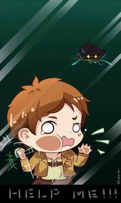 Run Eren she's coming for you! Omg Kawaii!! But omg she's after you!!