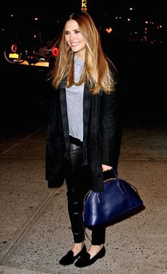 ELIZABETH | ARRIVING AT THE DAILY SHOW WITH JON STEWART -- Click to get the look...