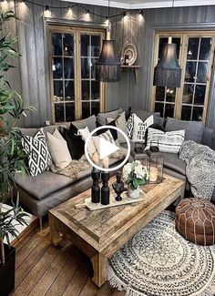 Cozy Living Room For Your Home - Living Room Design Cozy Living Rooms, My Living Room, Home And Living, Living Room Furniture, Living Room Decor, Modern Living, Small Living, Western Living Rooms, Barn Living