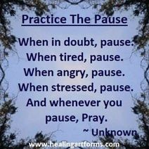 Practice the Pause - When in doubt, angry, stressed . and whenever you pause, PRAY Biblical Quotes, Bible Quotes, Bible Verses, Me Quotes, Scriptures, Spiritual Sayings, Religious Quotes, Great Quotes, Quotes To Live By