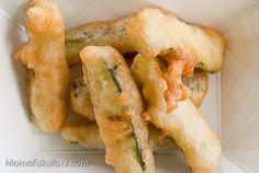 I think I'm going to have to retire Deep-Fry Fridays. Not because these zucchini sticks were horrible - they were quite good - but because I'm so over Fried Zuchinni, Fried Zucchini Sticks, Zucchini Fries, Pub Recipes, Yummy Recipes, Cooking Recipes, Yummy Snacks, Yummy Food, Appetizer Recipes