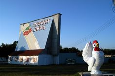 THE BEST authentic 50s drive-in in MI -- The Cherry Bowl, Honor, MI