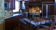 Sedna granite kitchen countertops | Park City, UT | Accent Interiors Granite Kitchen, Kitchen Countertops, Park City, Kitchen Ideas, Kitchens, House Ideas, New Homes, Interiors, Flooring