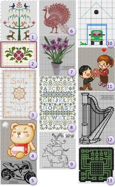 Free charts: Cross-stitch · Needlework News | CraftGossip.com