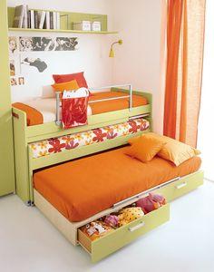 HappyModern.RU | Выдвижная кровать для двоих детей (50 фото) – функциональная и компактная мебель | http://happymodern.ru