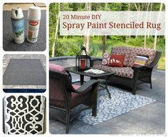 Inexpensive stenciled outdoor rug
